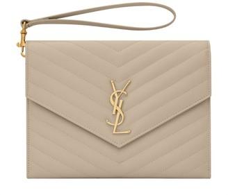 Saint Laurent Monogram Envelope Clutch Bag