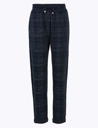 M&S CollectionMarks and Spencer Checked Straight Ankle Grazer Trousers