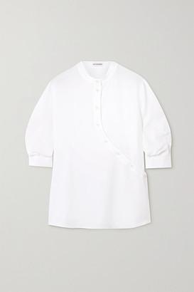 Altuzarra Kumi Asymmetric Crepe Blouse - White