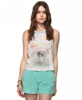 Forever 21 Heritage 1981 Shaded Wolf Tank