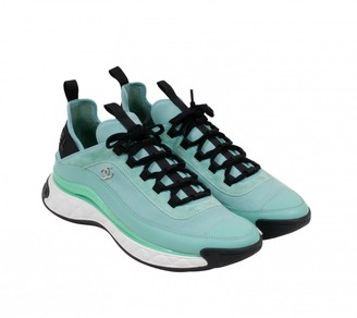 Chanel Turquoise Cloth Trainers
