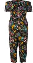 Dorothy Perkins Black Tropical Culottes Jumpsuit