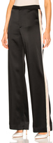 Lanvin Track Stripe Trousers in Black.
