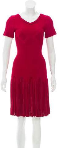 Alaia Knee-Length Fit and Flare Dress