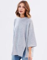Reverse Seam Oversized Knit Top
