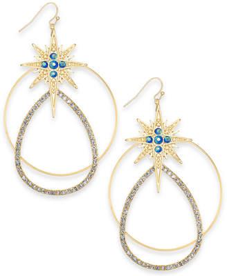 Thalia Sodi Gold-Tone Crystal Star Mobile Hoop Drop Earrings
