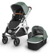 UPPAbaby VISTA Aluminum Frame Convertible Complete Stroller with Leather Trim