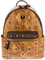 MCM snakeskin effect backpack