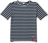 Kule Modern Short Sleeve Striped Tee Navy Cream