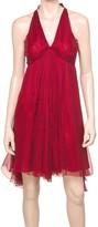 Max Studio Silk Halter Dress