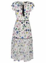 Markus Lupfer Fruit Blossom Sheer Belle Dress