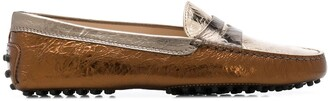 Tod's creased Gommino loafers