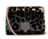 Jimmy Choo Lockett Petite leopard-print leather shoulder bag