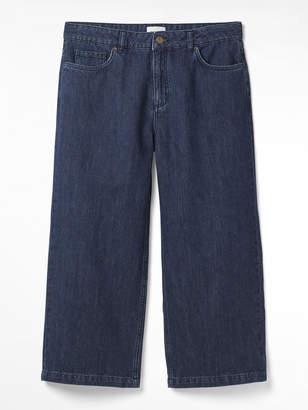 White Stuff Belle Denim Crop Wide Leg Jean