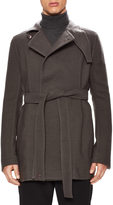 Rick Owens Men's Wool Classic Belted Trench Coat