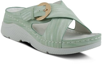 Spring Step Flexus by Cross-Strap Slides - Persemia