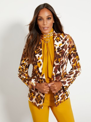New York & Co. Tall Soft Madie Blazer - Leopard Print - 7th Avenue