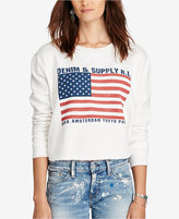 Denim & Supply Ralph Lauren Cropped Fleece Sweatshirt
