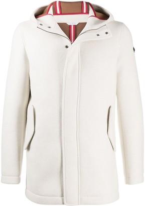 Manuel Ritz Hooded Single-Breasted Coat