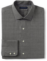 Classic Men's Tailored Fit Pattern Brushed Twill Dress Shirt-White
