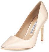 Charles David Donnie Pointed-Toe Pump, Rose Gold