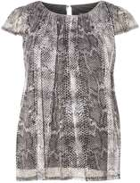 **Billie & Blossom Silver Snake Printed Shell Top