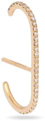 Futaba Hayashi Oval Ear Cuff With Pave Diamond - 14K Yellow Gold