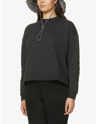 Ganni Oslo recycled cotton and polyester-blend sweatshirt