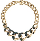 Michael Kors Autumn Luxe Acetate and Stainless Steel Curb-Link Statement Necklace