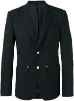Givenchy star button classic blazer - men - Wool/Mohair/Cupro/Cotton - 48