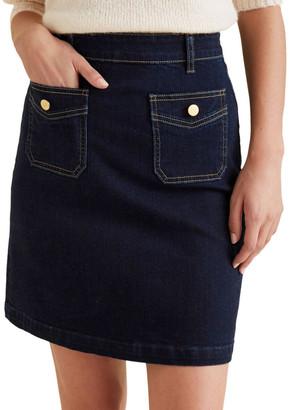 Seed Heritage Pocket Detail Denim Skirt