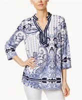 Charter Club Paisley-Print Tunic, Only at Macy's
