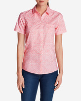 Eddie Bauer Women's Wrinkle-Free Short-Sleeve Shirt - Print