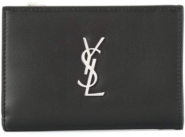 Saint Laurent logo plaque wallet