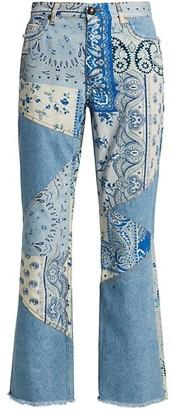 Etro Ibiza Paisley Patchwork Jeans