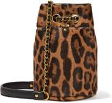 Jerome Dreyfuss Popeye Mini Leopard-print Calf-hair Bucket Bag - Leopard print