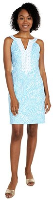 Lilly Pulitzer Valli Stretch Shift (Succulent Blue Sea Cups) Women's Dress