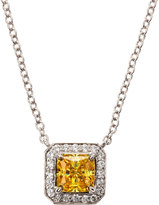FANTASIA CZ Princess Pave Pendant Necklace