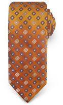 Haggar Big & Tall Extra-Long Geometric Neat Microfiber Tie