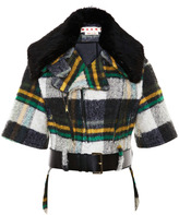 Marni Fur-Collared Mohair-Blend Cropped Jacket
