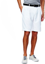 Haggar Cool 18 Shorts - Classic Fit, Pleated Front, Expandable Waist