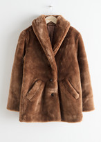 And other stories Short Faux Fur Coat