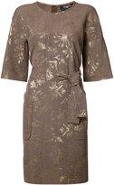 Paule Ka belted pocket dress