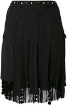 No.21 fringed mini skirt - women - Silk/Polyester/Acetate/Viscose - 38