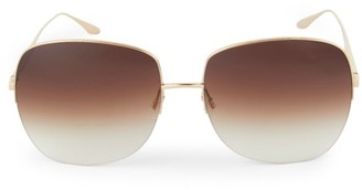Barton Perreira Harmonia 62MM Rimless Square Sunglasses