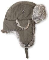 Crown Cap Real Rabbit Fur Lined Bomber Hat