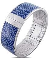 Laura Ashley Rhodium Plated Vintage Blue Enamel Bangle.
