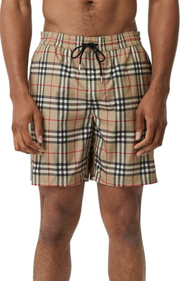 Burberry Guildes Check Swim Trunks