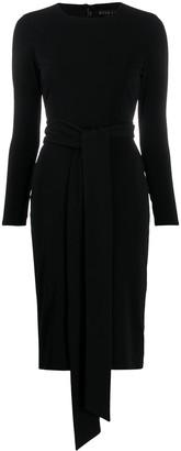 Alice + Olivia Tie Waist Midi Dress