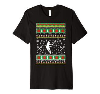 LaCrosse ugly christmas gift t shirt for mom or dad